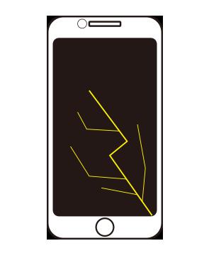 アイフォン画面割れ修理
